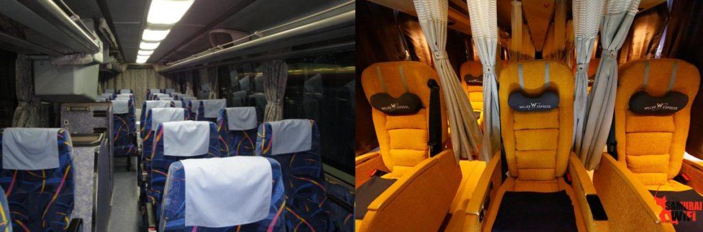 Loại bus đêm 3 ghế và loại 4 ghế
