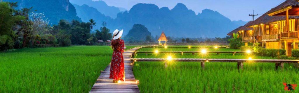 Chia sẻ ảnh đẹp du lịch Lào với wifi du lịch