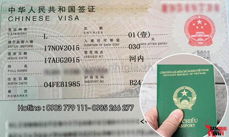 Visa đi Trung Quốc Samurai