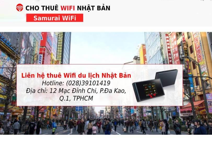 Wifi du lịch Nhật Bản - Samurai wifi