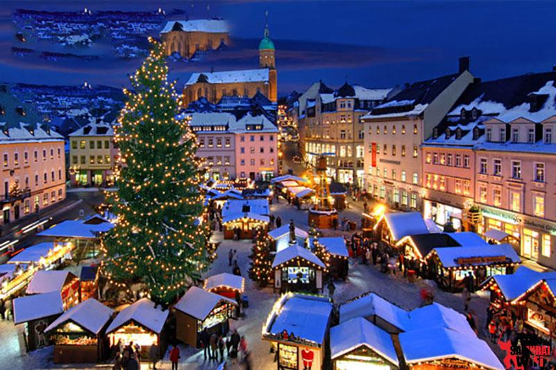 Chợ đêm Giáng Sinh Pháp
